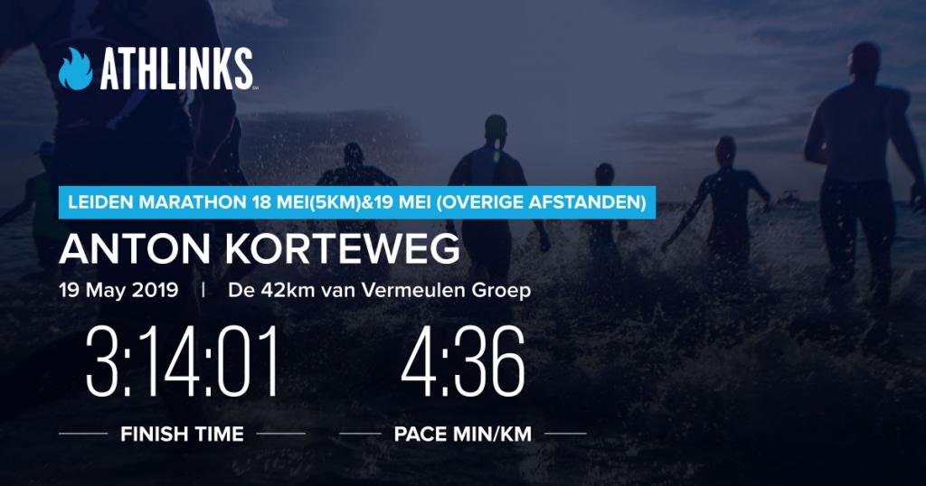 Marathon Leiden 2019 certificaat