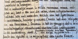 Brief Mathieu de Vriend