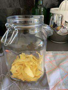 Schillen van sorrento citroenen