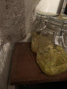 Limoncello in de kelder