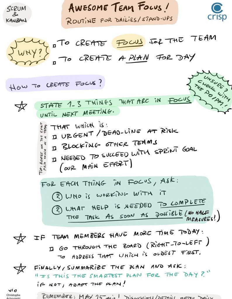 Awesome team focus Crisp